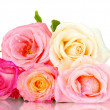 Stock Photo: Bouquet of beautiful roses isolated on white