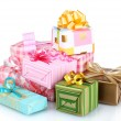 Foto Stock: Beautiful bright gifts