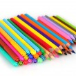 Bright markers and crayons — Stock Photo