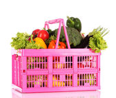 Verduras en una cesta — Foto de Stock