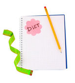 Planificación de una dieta — Foto de Stock