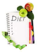 Planning of a diet — Stock Photo