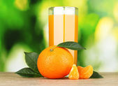 Healthy mandarin juice — Stock Photo