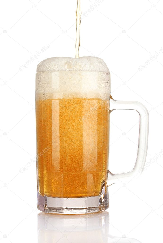 Mug of beer isolated on white — Stock Photo #7294727