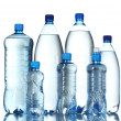 Stock Photo: Group plastic bottles of water