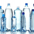 Group plastic bottles of water — Stock Photo #7622856