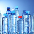 Group plastic bottles of water — Stock Photo
