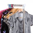 Different clothes on hangers — Foto Stock