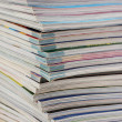 Stack of magazines closeup — Stock Photo
