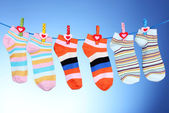 Bright striped socks — 图库照片