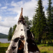 White tepee — Stock Photo
