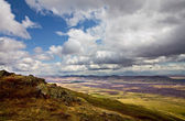 Clouds over South Ural mountains — Stock Photo
