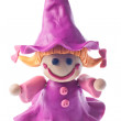 Funny plasticine witch — Stock Photo