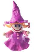 Funny plasticine witch — Stock fotografie