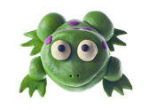 Funny plasticine frog — Stock Photo