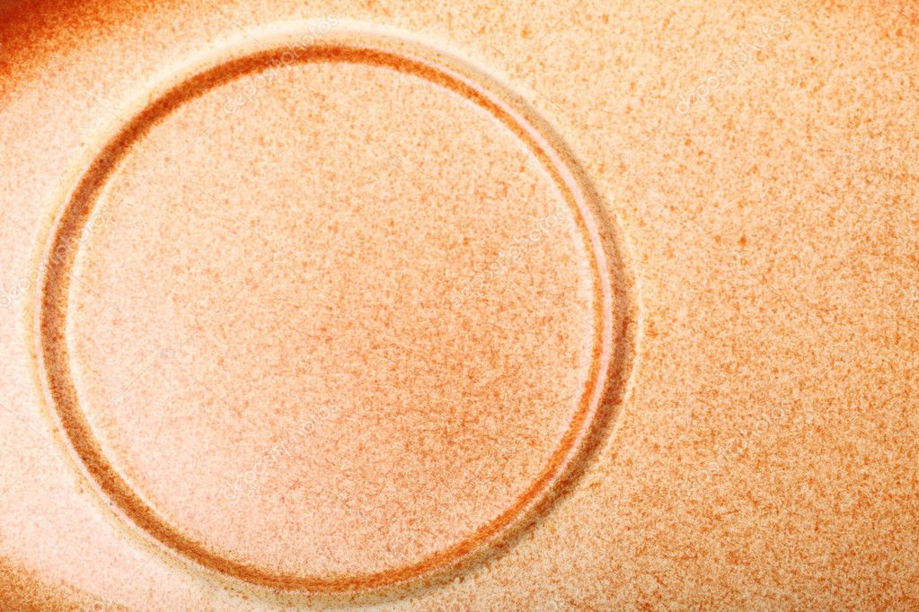 Brown ceramic saucer texture for background circle nobody — Foto Stock #6846019