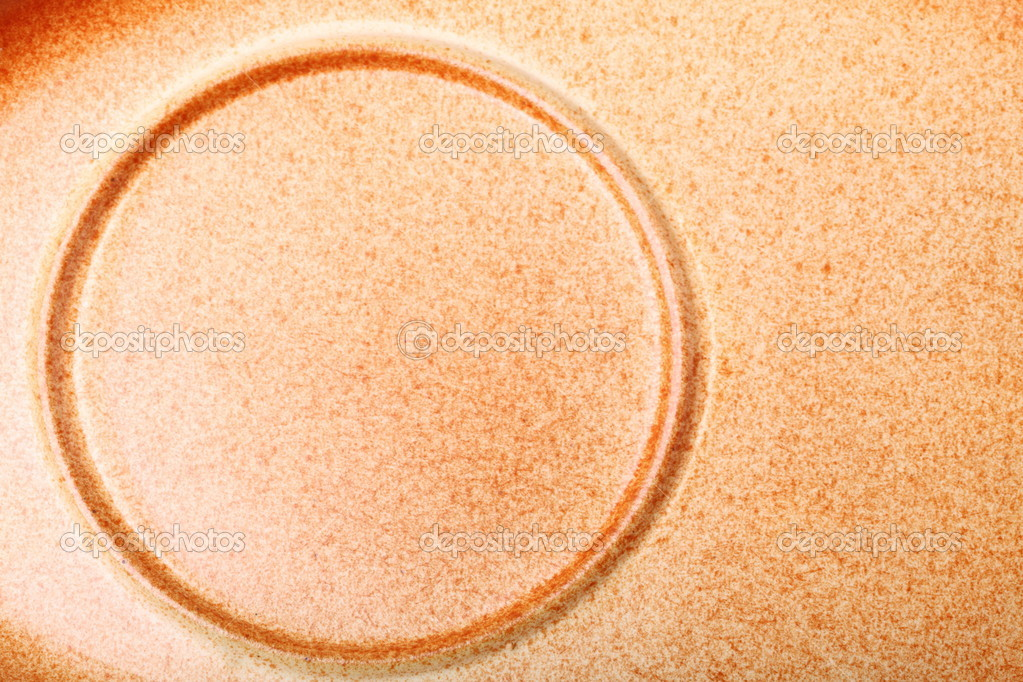 Brown ceramic saucer texture for background circle nobody — Zdjęcie stockowe #6846019
