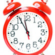 Red old style alarm clock isolated — Stock Photo #7067213