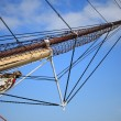 Masts and rope of sailing ship. — Stock Photo