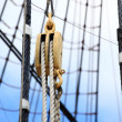 Masts and rope of sailing ship. - Foto Stock