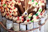 Sada barevných tužek. — Stock fotografie