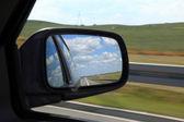 Mirror of a car — Stock Photo