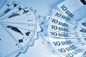 Banknotes in denominations of 10 euros — Stock Photo