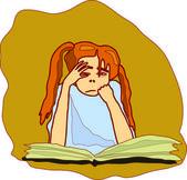 Dívka s knihou — Stock vektor