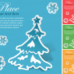 Christmas sticker — Stock Vector