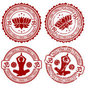 Collect Yoga stamps — Stock Vector