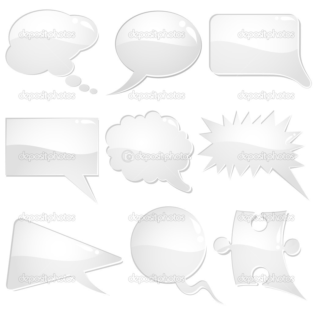 Set of speech and thought bubbles, element for design, vector illustration — Stock Vector #6754682