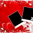 Royalty-Free Stock Vector Image: Valentines Day background with hearts and flowers