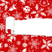 Torn christmas paper — Stock Vector