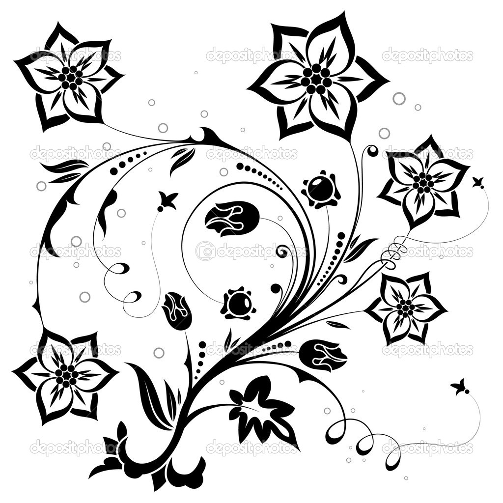 Decorative Floral theme for design, vector illustration — Stock Vector #6819083