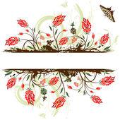 Flower frame — Wektor stockowy