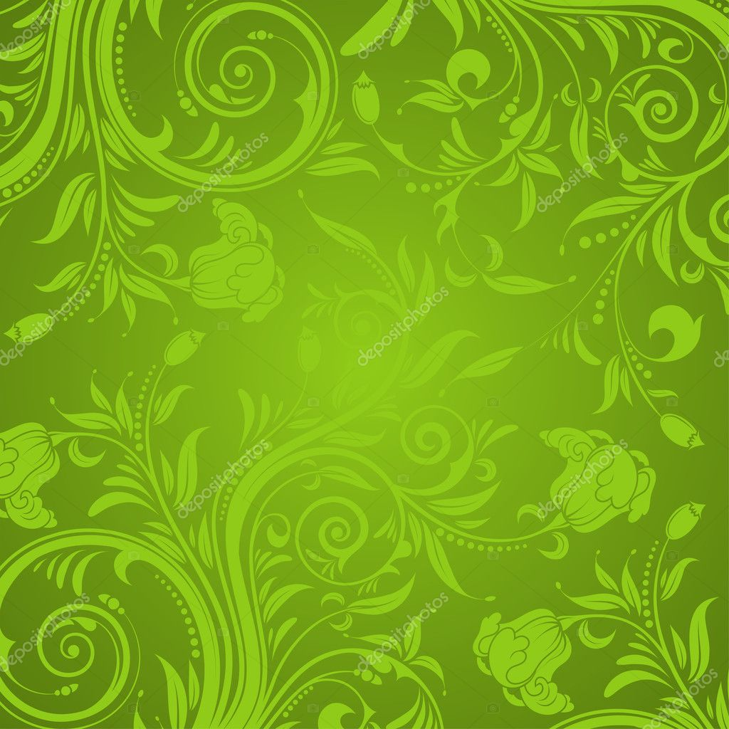Decorative Floral texture for design, vector illustration — ベクター素材ストック #6822677