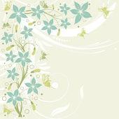 Blomma ram — Stockvektor