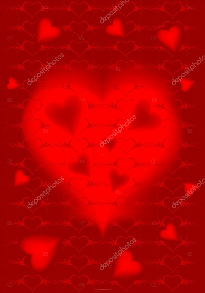 Valentines Day background with hearts, element for design, vector illustration — Stock Vector #6942271
