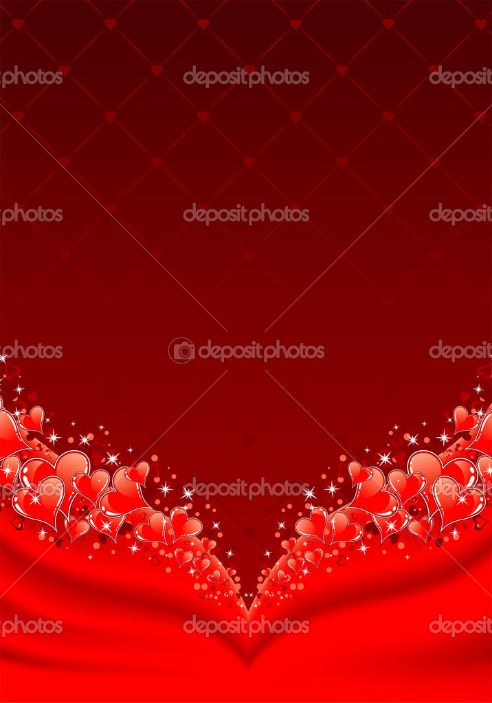 Valentines Day background with Hearts, element for design, vector illustration — Stock Vector #6942288