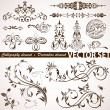 Calligraphic and floral element — Stock Vector #7062292
