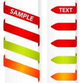 Recoger la etiqueta engomada — Vector de stock