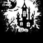 Grunge Halloween frame — Stock Vector