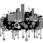 Abstract grunge urban — Stock Vector