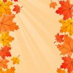 Autumn frame — Stock Vector