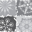 Snowflake background, vector - Stockvektor