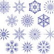 Collection of snowflakes, vector - Stockvektor