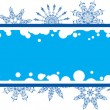 Snowflake grunge frame, elements for design, vector — Stock Vector