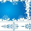 Snowflake grunge frame, elements for design, vector — Stock Vector #7076984