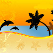 Wonderful summer background — Imagen vectorial