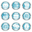 Royalty-Free Stock Vector Image: Set Business Gloss Button